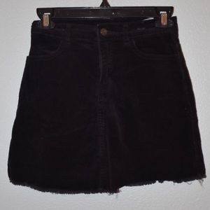 Brandy Melville Black Corduroy Skirt